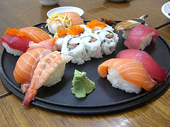 Sushi with a level of mercury in it