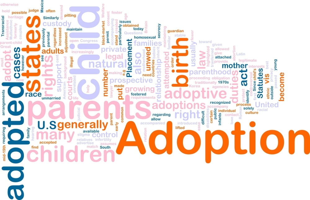 Image of words related to adoption