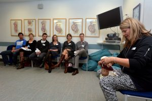 Pregnant parents at childbirth education class | American Pregnancy Association