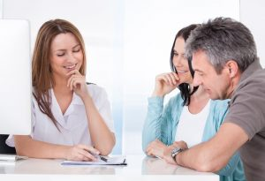Husband and wife going to genetic counseling | American Pregnancy Association