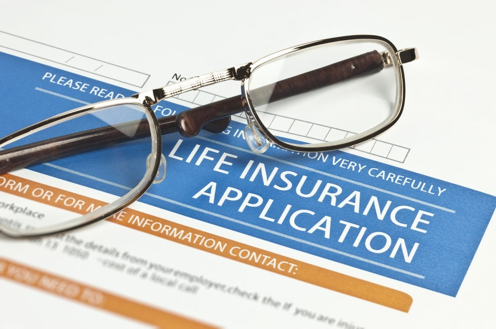 Image of a life Insurance application