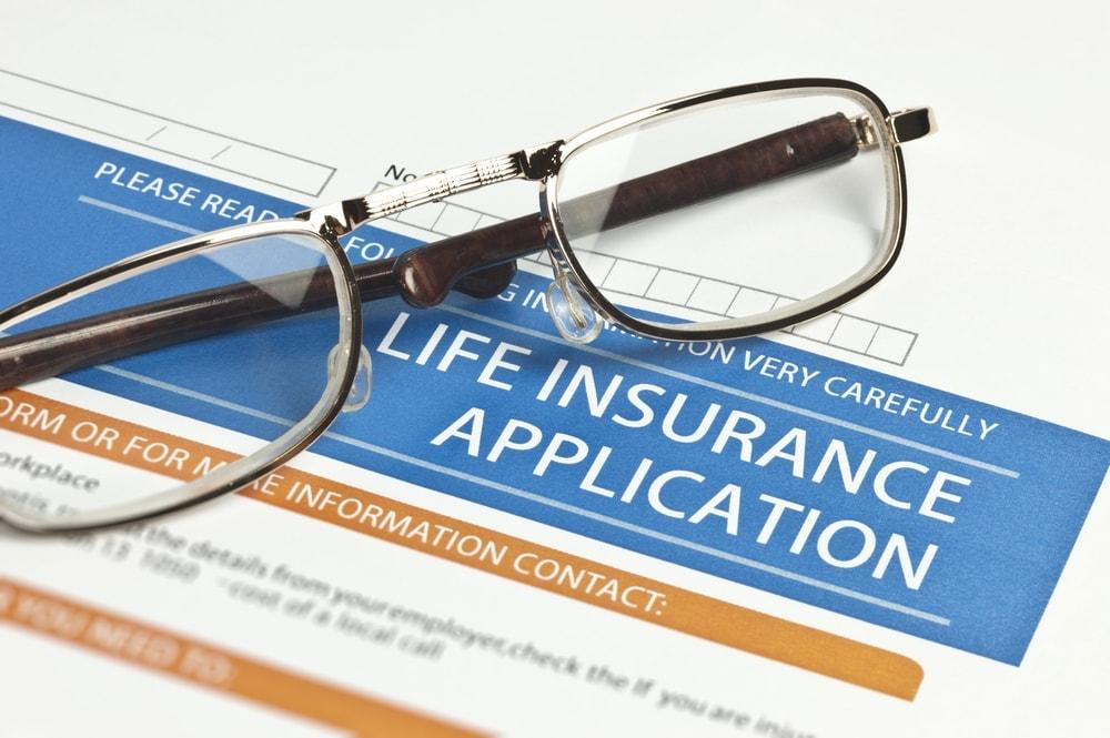 Imagen de una solicitud de seguro de vida