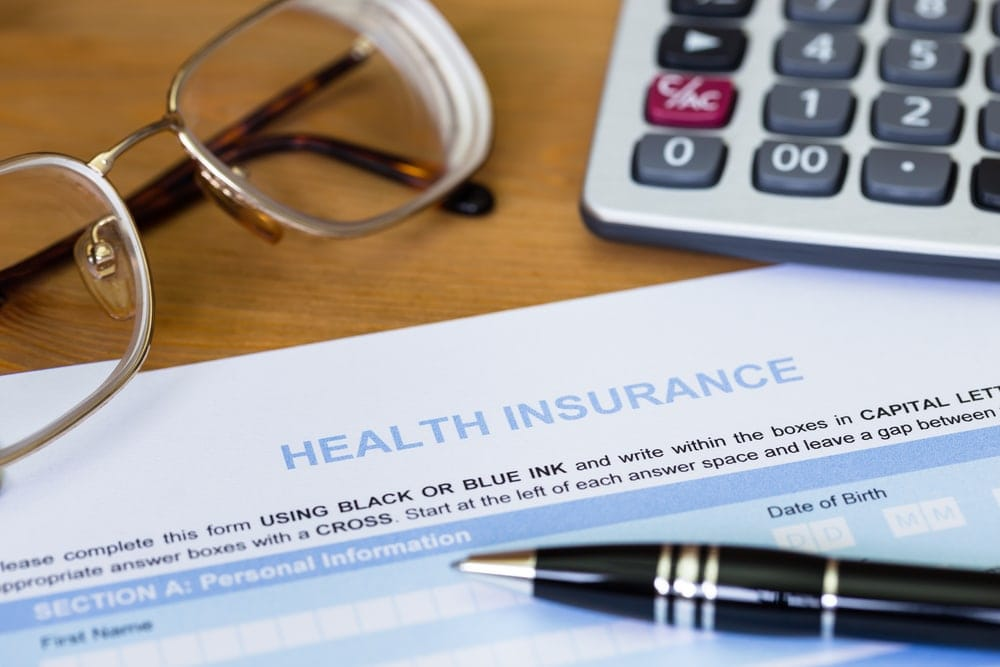 Image of health insurance form