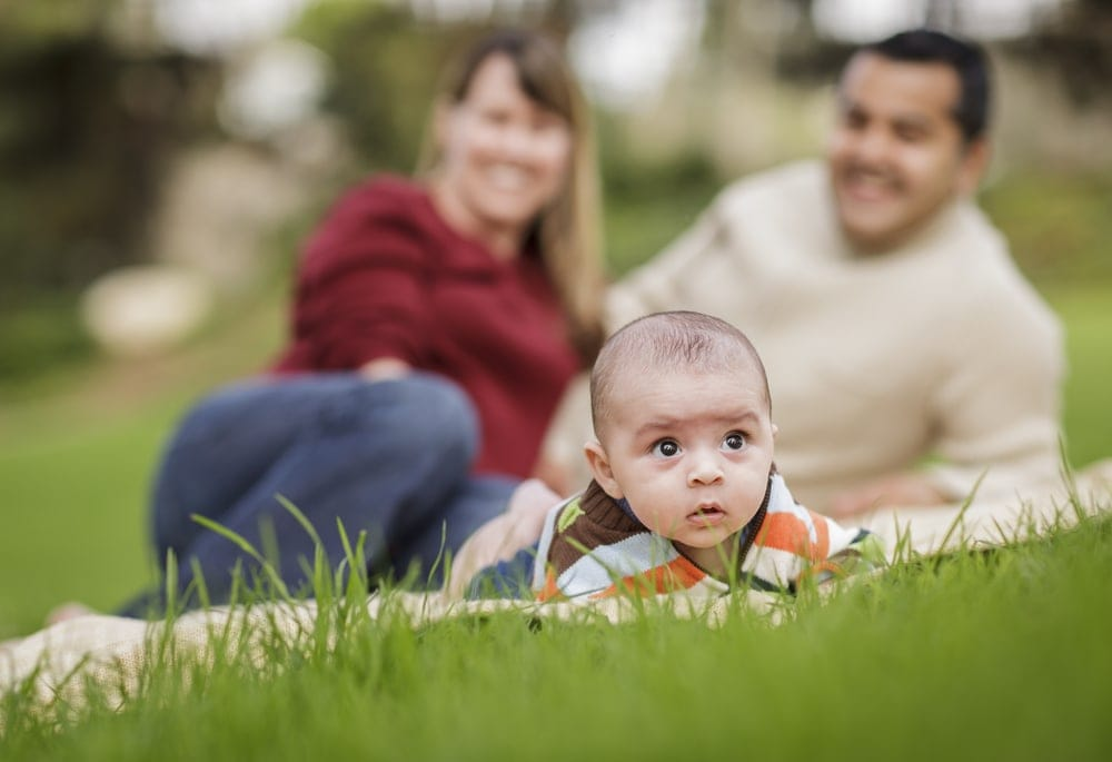 Image of a family in an open adoption