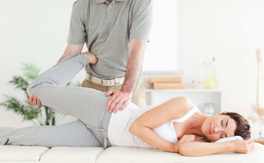 Pregant woman in physical therapy