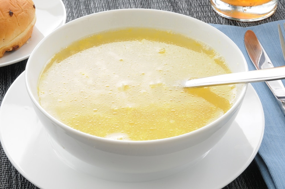 Broth is known to help resolve diarrhea