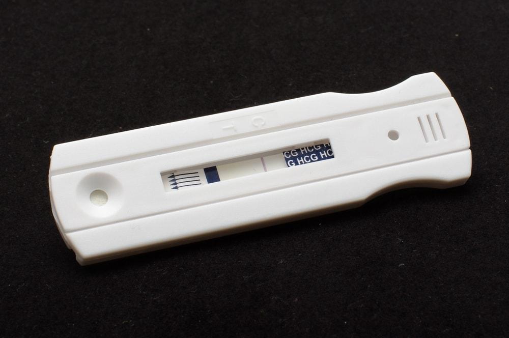 Imagen de una prueba de embarazo