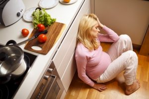 Woman experiencing emotional changes during pregnancy