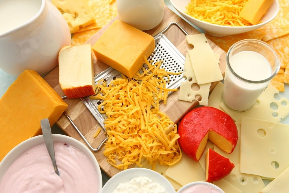 Image of dairy foods high in calcium