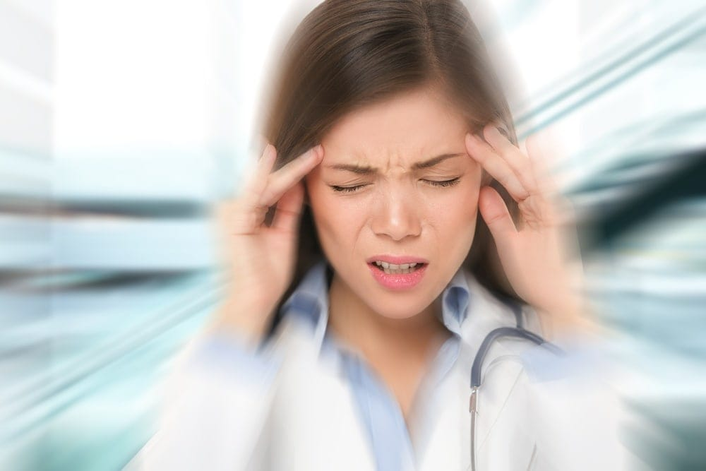 Pregnant woman with migraines