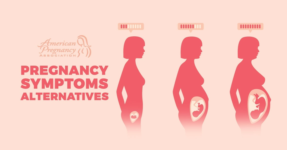 alternative pregnancy symptoms