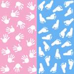 gender reveal test pink and blue hands | American Pregnancy Association